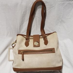Dooney and Burke Canvas and Leather Handbag